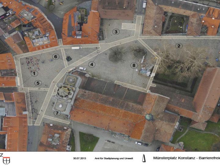 Barrierefreie Wackenpflasterflächen auf dem Münsterplatz in Konstanz